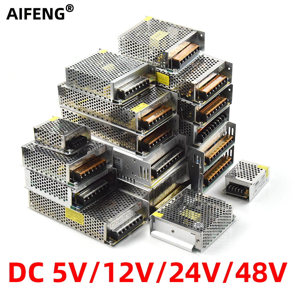 AIFENG Lighting Transformers <font><b>DC</b></font> 5V 12 V 24V <font><b>48V</b></font> Power Supply dc12v 1A 2A <font><b>3A</b></font> 4A 5A 6A 8A 10A 15A 20A 30A LED Driver Power Adapter image