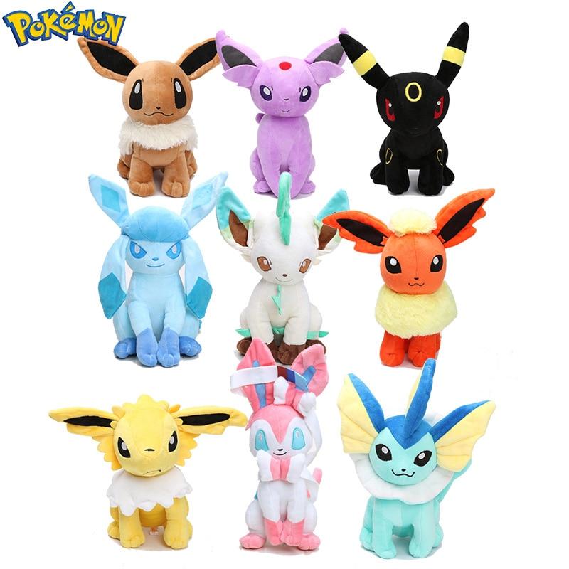 Pokemon Plush Eevee Jolteon Umbreon Flareon Espeon Vaporeon Stuffed Animal Dolls Big 30cm Pokemon Toys