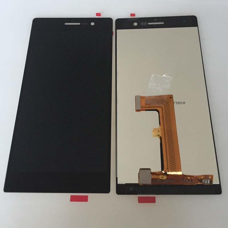 ФОТО New Black Touch Digitizer LCD Display Screen Glass Assembly Panel For Huawei Ascend P7 Replacement