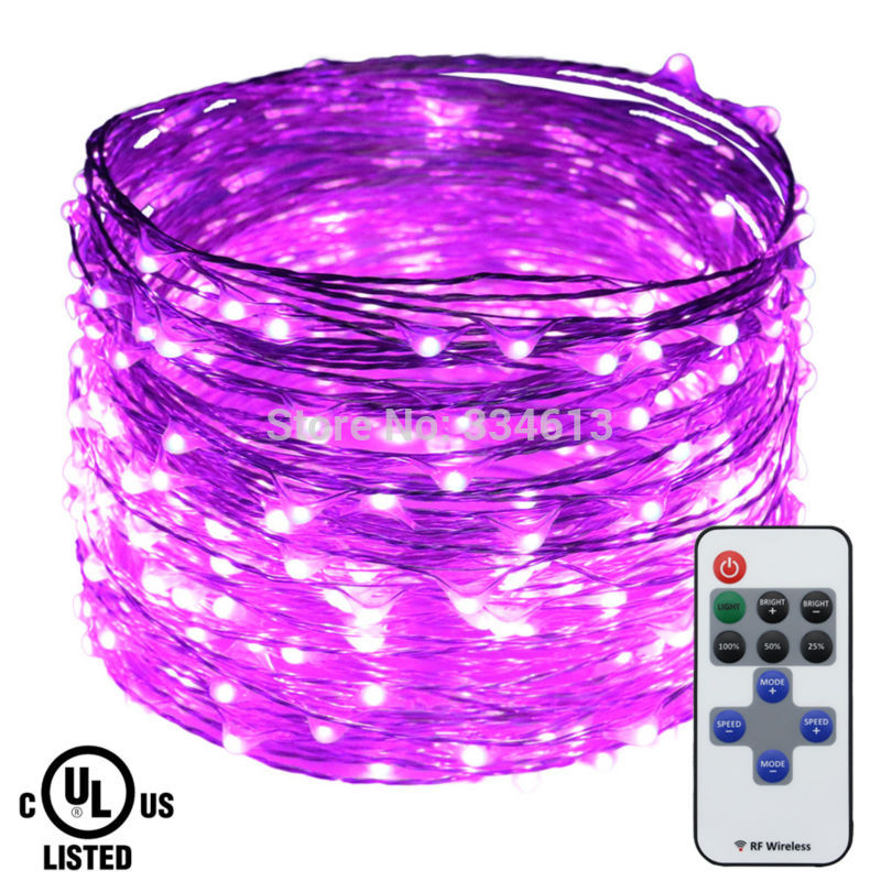 Rui chen 30M led string lights Waterproof Copper led string Fairy light holiday decoration outdoor with Remote+ UL CE Adapter
