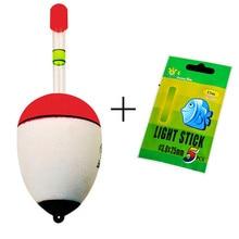1Float 5 Light Stick EVA Fishing Floats Bobber Set 10g 20g 30g 40g 50g 60g Sea