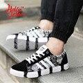 Hellozebra Hombres Mesh Casual Shoes Zapato de Cuero Suave de Fondo Plano Con Luz de Malla Transpirable Casuales Zapatos de Los Estudiantes 2016 Otoño Nueva