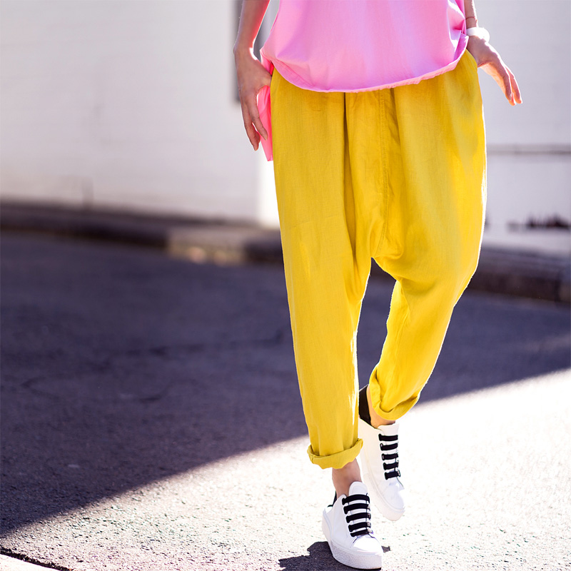 Loisirs Chanvre Halen Code The Coton Dazzle Basse Femelle Couleur Minutes pink De Blue 7 Grand Artistique Pantalon yellow K6835 Taille 1q8xz6gw8