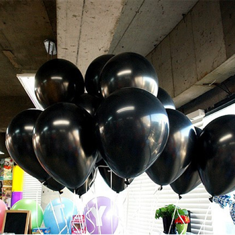 Black balloon 100pcs/lot 1.2g 10 Inch Pearl Helium wedding Decorations Metallic Ball Baby toy Latex ballon