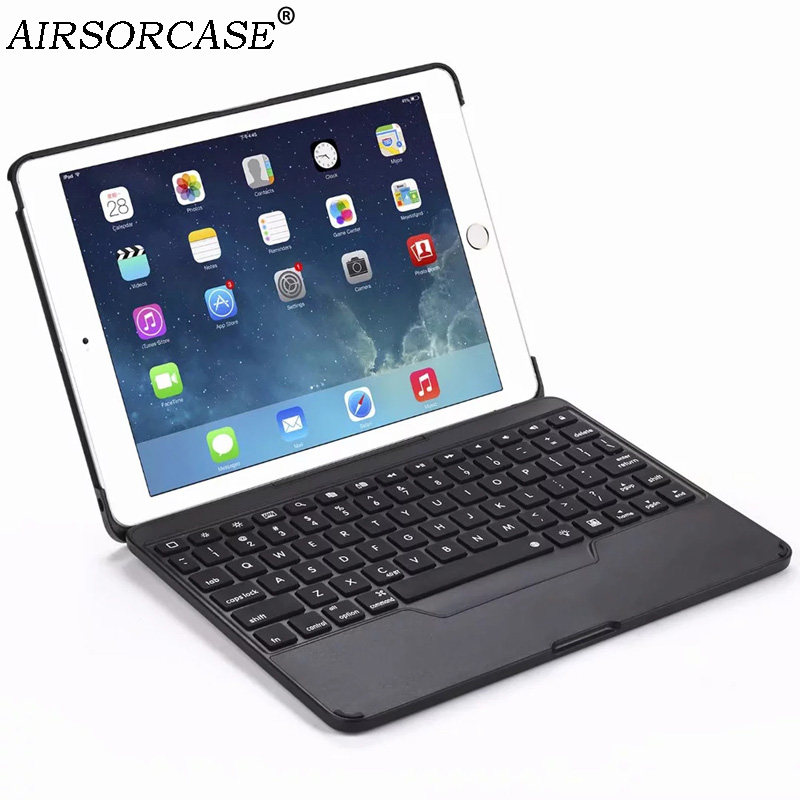 Luminous Keyboard Wireless Bluetooth Tablet Case for Apple iPad 9 7 2017 2018 Air Air 2