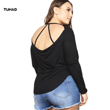 TUHAO Blouse Femininas 2018 Fashion Women's Clothing hollow out plus size 2XL 3XL Blouses Shirts Long Sleeve casual Top Tee BC97
