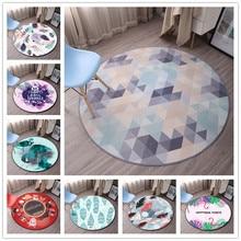 Круглые геометрические ковры в скандинавском стиле для гостиной, детской спальни, коврики и коврики для компьютерного стула