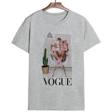 2019New Thin Section Vogue T Shirt Harajuku Women Letter Printed Tshirt Leisure Round Neck Female T-shirt Clothes(China)