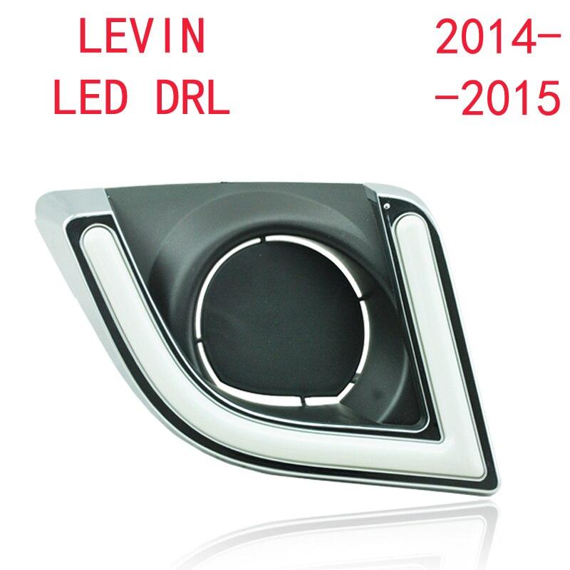 Выключить и затемнения стиль реле автомобиля СИД DRL дневные ходовые огни для Toyota Левин 2013 2014 2015 с противотуманной фарой
