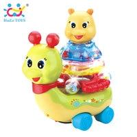 Детские Электрический игрушка МИГАЕТ улитка с музыкой/свет/Универсальный детские развивающие игрушки погремушки для Для детей подарки на