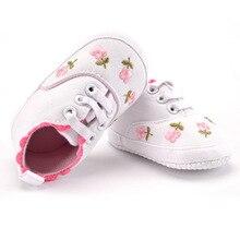 女の子の靴白レース花刺繍ソフト靴 ウォーキング幼児子供靴ファーストウォーカー靴ソフトベビーベッド Prewalker