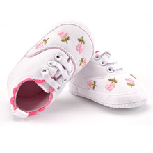 Baby Girl Shoes White Lace Floral Embroidered Soft Shoes Prewalker Walking Toddler Kids Shoes First Walkers Shoes Soft Crib