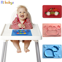 Baby Silicone Plate Solid Feeding Bowl Kids Tableware Set Infant Dishes Anti Slip Tableware Kitchen Fruit Dishes Children Bowl