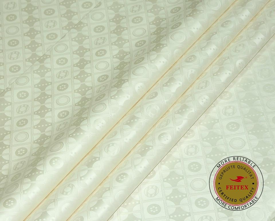 High Quality Guinea Brocade Tkanina Bazin Riche 10Yards / Bag Doprava zdarma Nové oblečení FEITEX African Shadda Damask