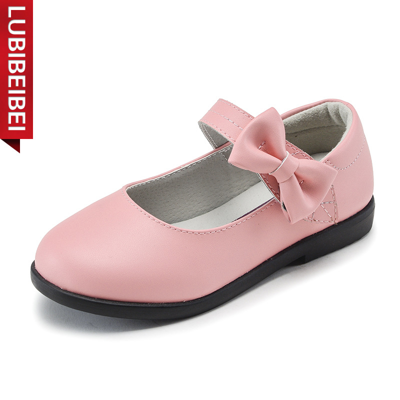 Brand Girls Shoes Genuine Leather Kids Shoes 2017 Spring Autumn New Princess Shoes Black Students Casual Children Shoes KS150