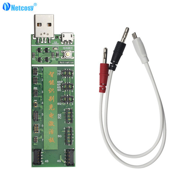 netcosy professional power battery activation charge board with micro usb cable  circuit tester for iphone 4