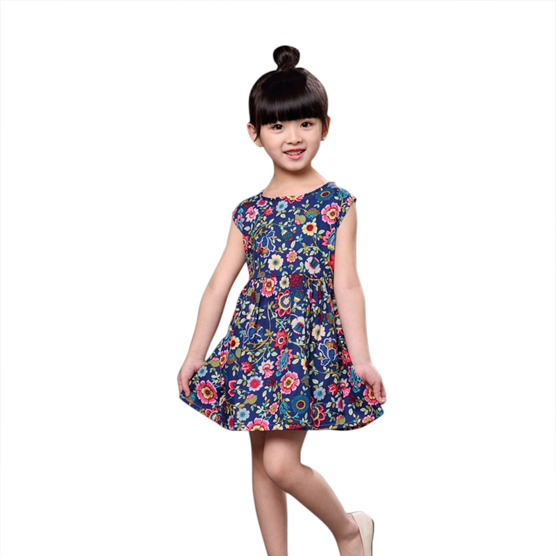 Summer Baby Girl Dress With Floral Print And Sleeveless Pattern Comfortable For Dressing In the Summer ...