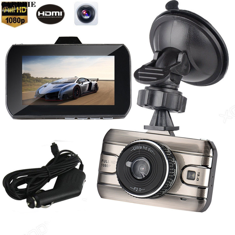 CARPRIE 3 LCD HD 1080P Car Vehicle Video Dash Cam Recorder Camera DVR HDMI G-sensor Night Vision Gps Car camera recorder Road S