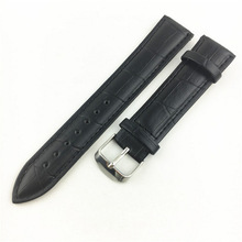 Imitation leather watch with black brown leather hollow watch band male and female PU vintage watch band 12-24mm