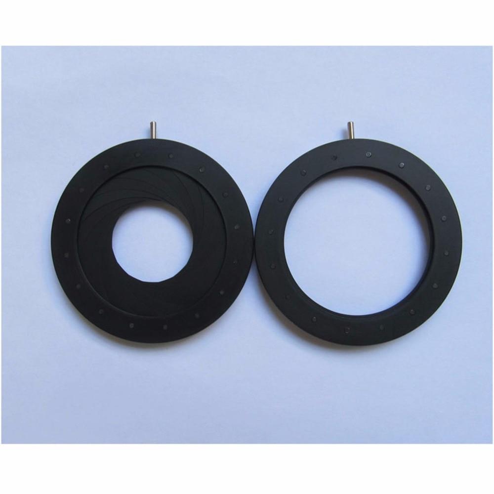 купить 1PC 2.5-44mm Iris diaphragm Iris Aperture Monitor Parts camera parts Condenser microscope онлайн