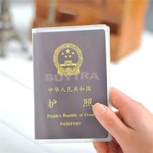 New 2019 Transparent Passport Cover Waterproof Passport Bags Passport Protective Sleeve Card ID Holder 1PCS(China)