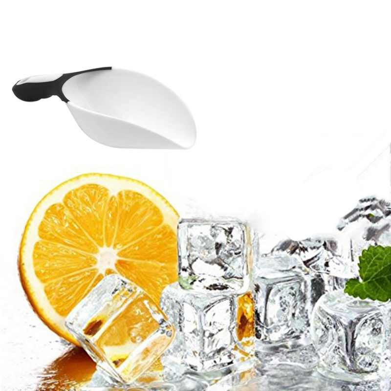 Przenośny kostki lodu łopata żywności słodycze na rzecz cukierki Ice miarki skrobak do mąki łopata wesele w formie bufetu akcesoria barowe akcesoria