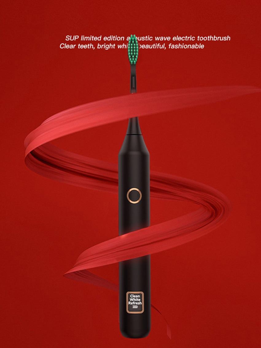 adulto sonic escova de dentes eletrica led display dupont cabeca da escova acustica escova de dentes