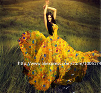 Wholesale 5meters Lot 135cm Width 100 Real Mulberry Silk Chiffon Print Fabric For Dress DIY Sewing