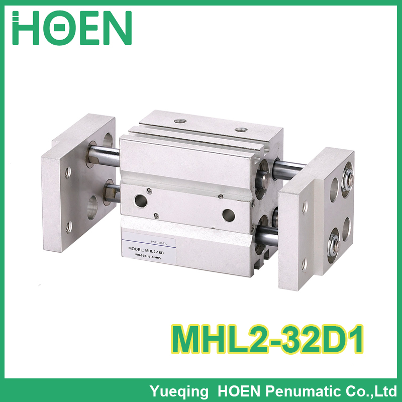 Longer Type MHL2-32D1 Arallel Style Wide Opening Air gripper Pneumatic Cylinder high quality double acting pneumatic gripper mhy2 25d smc type 180 degree angular style air cylinder aluminium clamps