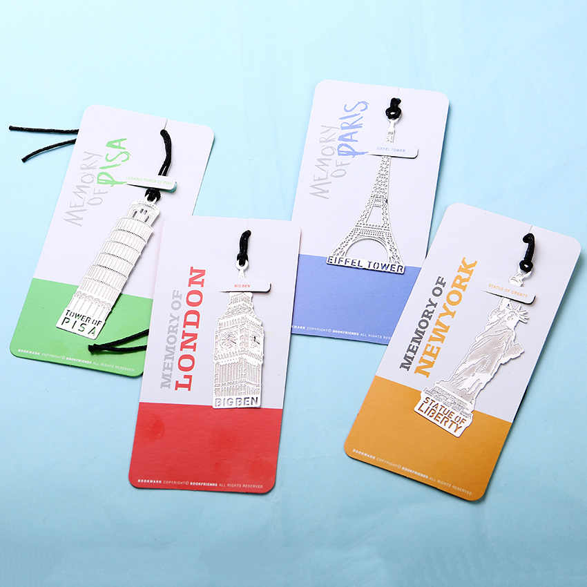 1 PC New Arrival London Eiffel Tower Modeling Bookmarks for Book Creative Gift Office Learn Essential Supplies