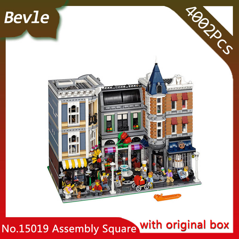 Bevle Store LEPIN 15019 4002Pcs with original box Street View Series Rally plaza Building Blocks Bricks For Children Toys 10255 bevle store lepin 22001 4695pcs with original box movie series pirate ship building blocks bricks for children toys 10210 gift