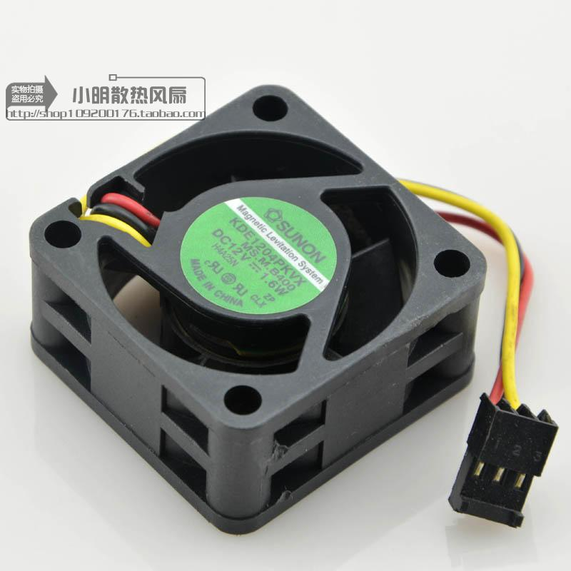 KDE1204PKVX MS.M.B400 Free Shipping DC12V 1.6W Cooling Fan For SUNON KDE1204PKVX MS.M.B400 Server Square Fan 40x40x20mm 3-Wire free shipping for panaflo fba06t24h dc 24v 0 11a 3 wire 3 pin connector 60mm 60x60x15mm server square cooling fan