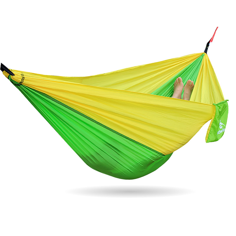 Green Yellow Hammock Camping Furniture Swing Garden Bed 2 people portable parachute hammock outdoor survival camping hammocks garden leisure travel double hanging swing 2 6m 1 4m 3m 2m
