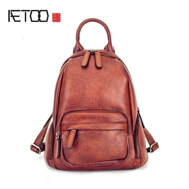 AETOO 2017 nouveau hommes et femmes couples épaule sac rétro loisirs essuyer sac en cuir portefeuille voyage sac