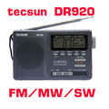 TECSUN DR-920 DIGITAL DISPLAY DIGITAL FM AM MW SW Multibanda RADIO DR920, portátil de pantalla Digital de banda completa radio despertador