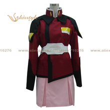 Kisstyle Moda Mobile Suit Gundam Seed Destiny Lacus Clyne Uniforme COS Ropa Cosplay Conjunto