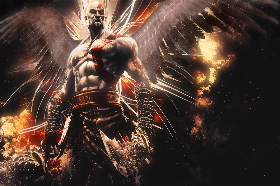 Custom Canvas Art God Of War Poster Ascension Game Wallpaper Kratos Wall Stickers Mural Christmas Home Decor 2602 In From