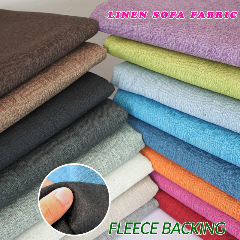 Compound lining Linen Fabric Sofa Cushion Fabirc Sewing Cloth Outdoor Linen Blend Fabric Upholstery 58 wide Per Yard