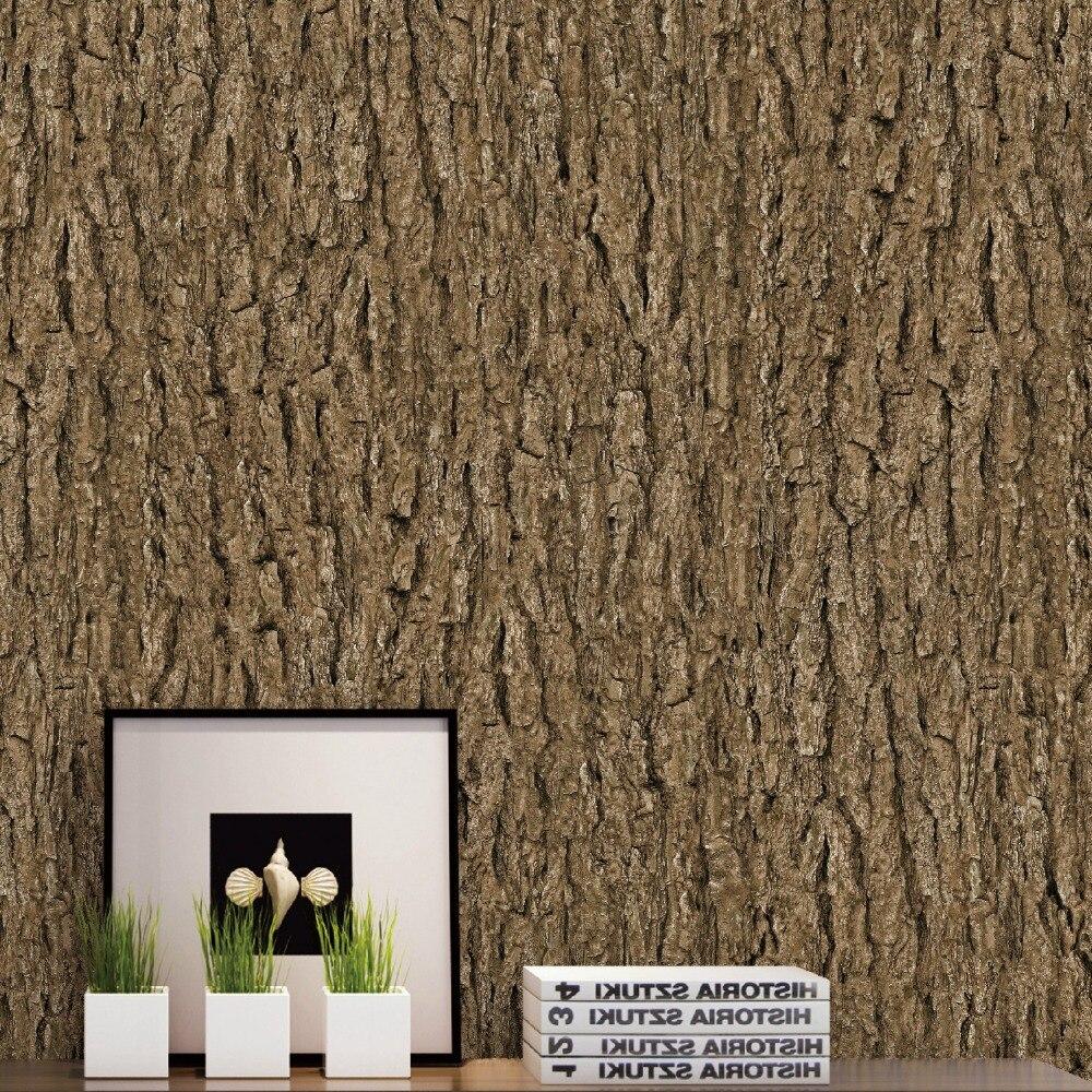 Papier peint Vintage décor à la maison imperméable à l'eau écorce papier peint pour murs 3D personnalisé arbre papiers peints décoratifs forpapel de pared