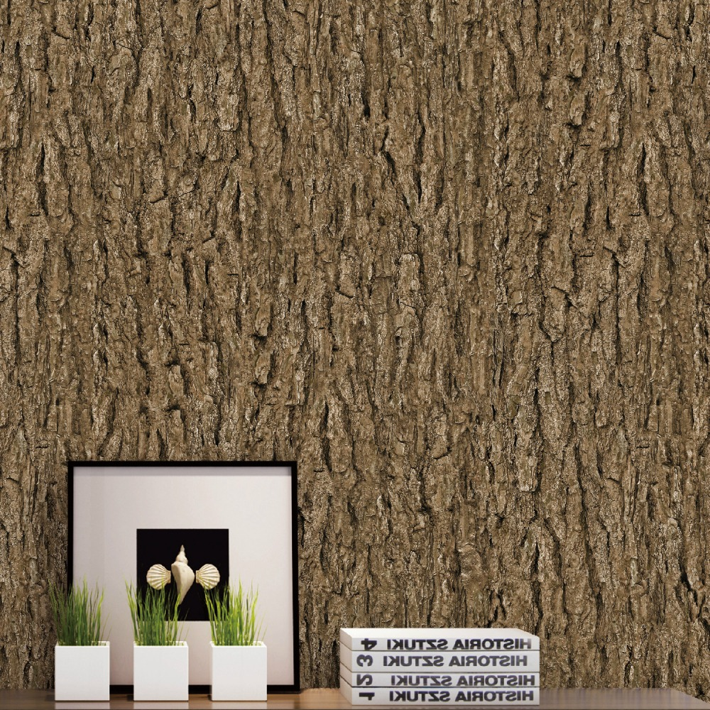 Vintage Wall Papers Home Decor Water Proof Bark Wallpaper for Walls 3D Personalized Tree Wallpapers Decorative forpapel de pared xl7215 personalized decorative color feather creative wallpaper