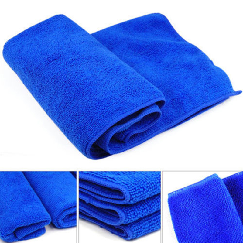 10PCS Microfiber Auto Car Detailing Soft Cloths Wash Towel Duster Kitchen Blue