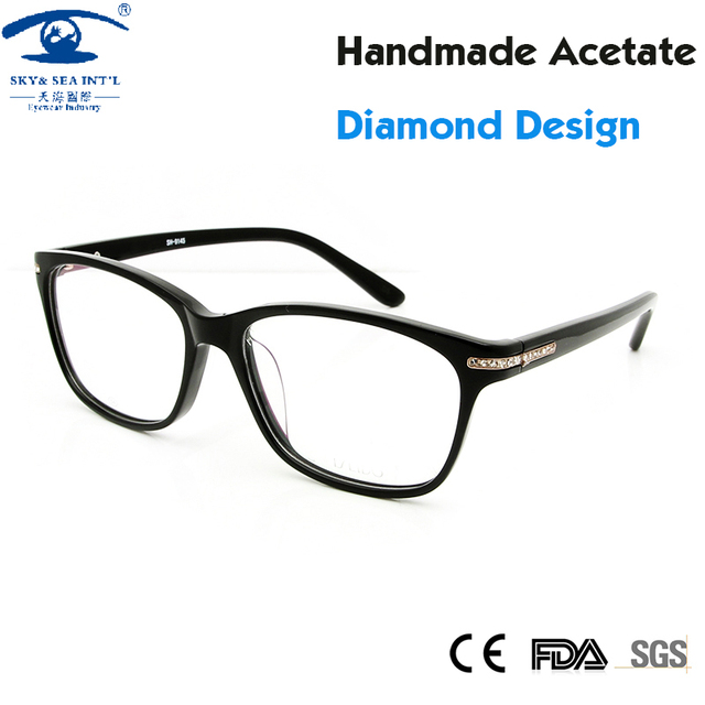 Luxury Brand Designer Women Glasses Frames Fashion Clear Lens Spectacle Frame Diamond Eye Glasses Frames for Women Rx Eyewear