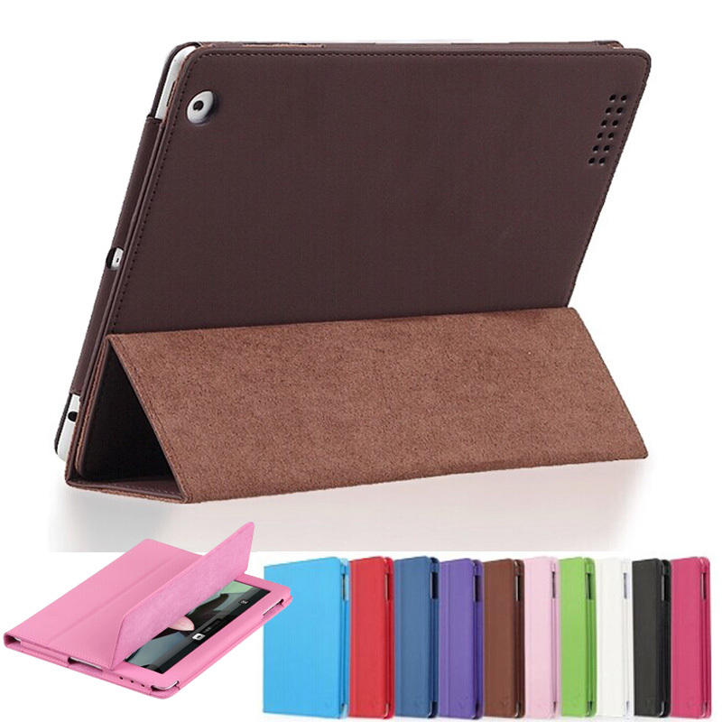 For iPad Air2 Official Folding Folio Smart Stand PU Leather Cover for Apple ipad 6 6th Air 2 Retina Tablet Protective Pouch Case eyw for apple ipad air2 ipad 6 luxury crocodile pattern 360 rotation stand folio pu leather smart cover case for ipad air 2