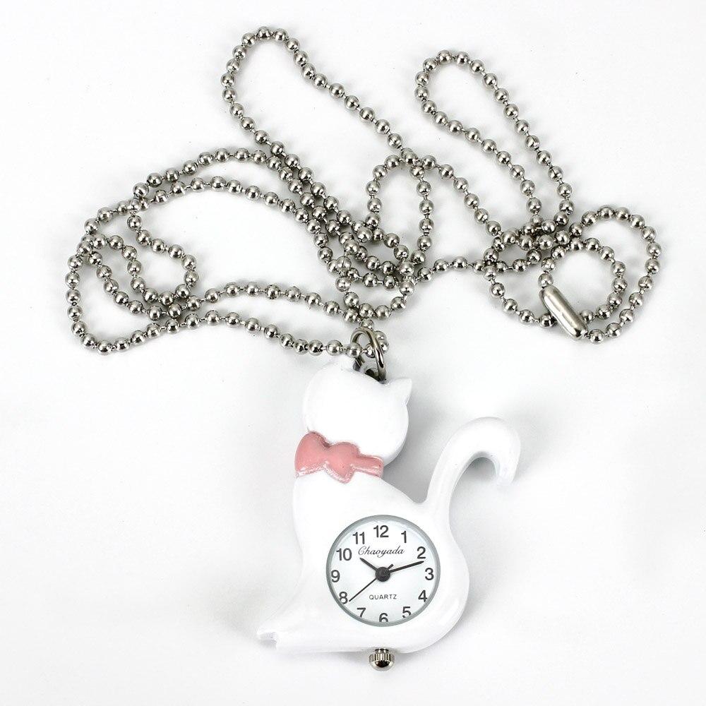 Nieuwe mode vrouwen kat ketting horloges steampunk hanger zak charme - Zakhorloge - Foto 3