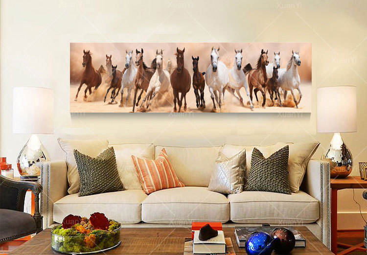 Aliexpress Buy Wall Art Canvas Oil Painting Beautiful Landscape Horse Picture Living Room Home Decoration Print On CanvasNo Frame From Reliable