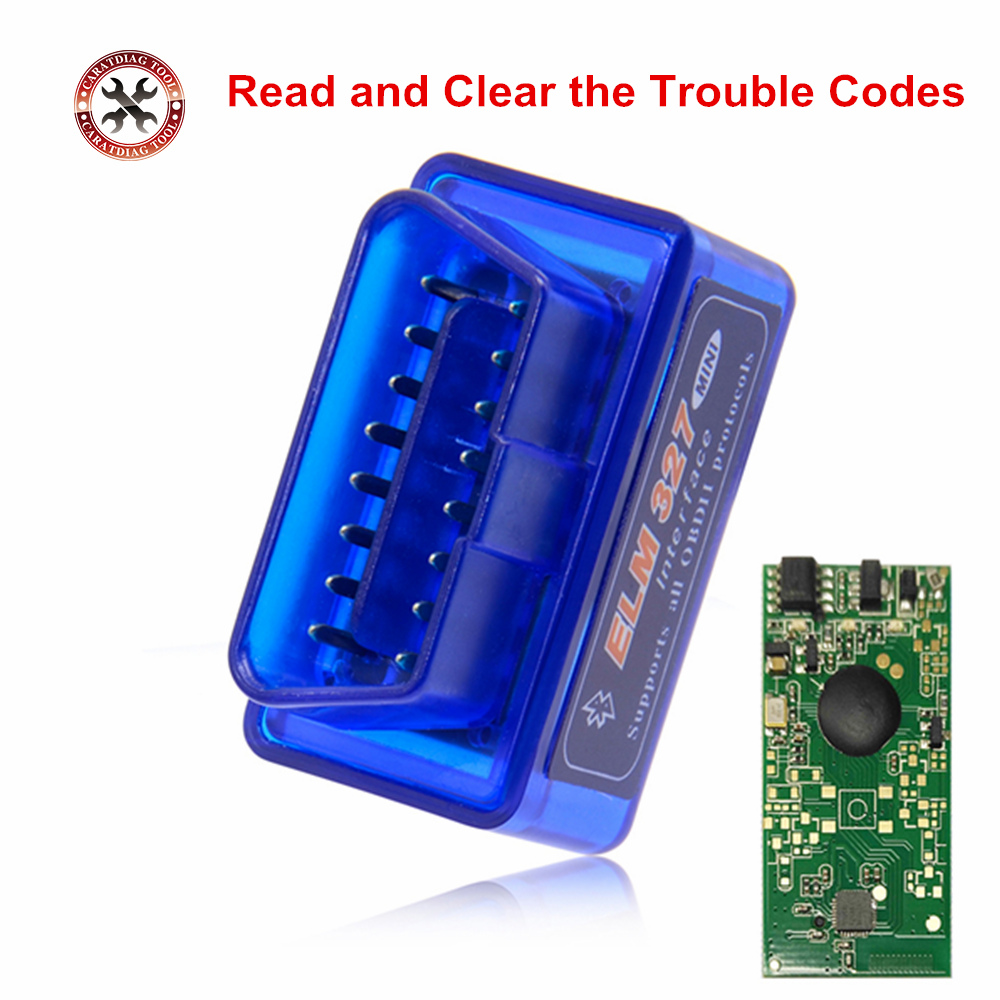 New Mini ELM327 Bluetooth V2.1 OBD2 Car Diagnostic Scanner ELM 327 Bluetooth For Android/Symbian For OBDII Protocols 3 Colors