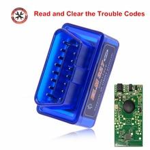 Мини ELM327 Bluetooth V2.1 OBD2 автомобильный диагностический сканер ELM 327 Bluetooth для Android/Symbian для OBDII протоколов 3 вида цветов