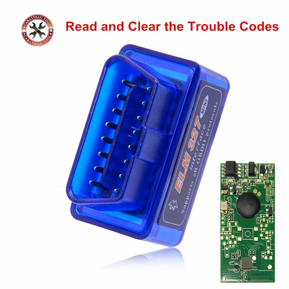 Автомобильный диагностический мини-сканер ELM327, Bluetooth V2.1, OBD2, ELM 327, Bluetooth для Android/Symbian, протокол OBDII, 3 цвета