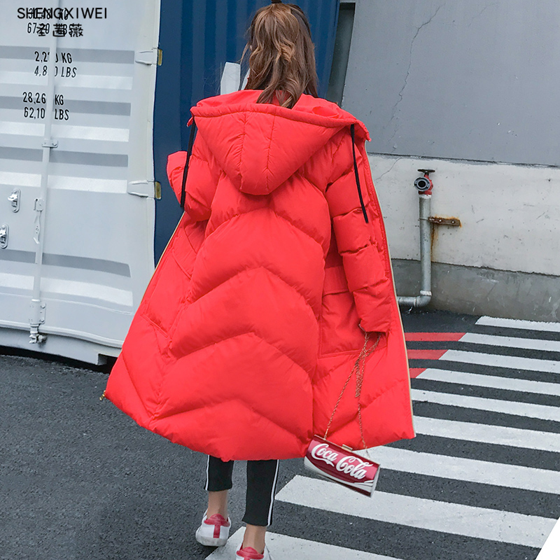 Winter Jacket Women New Fashion Casual Down Cotton Thick Warm Parkas Outwear Long Hooded Irregular Coat 2XL Female Manteau Femme new winter light down cotton coat women long design hooded jackets casual slim warm jacket coats parkas female outwear qh0454