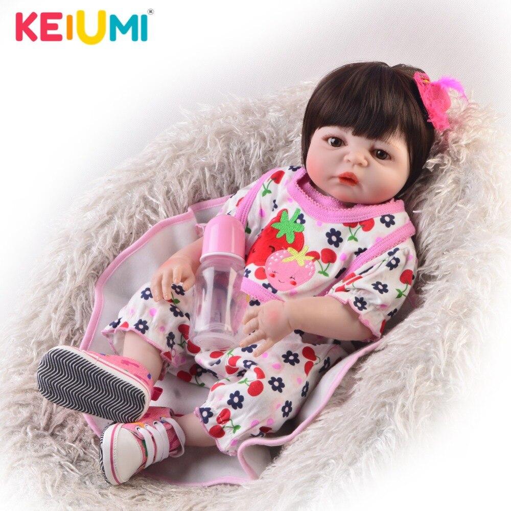 สะสม 23 ''Reborn ตุ๊กตาซิลิโคนไวนิลจริงทารกแรกเกิดทารกตุ๊กตาของเล่นสำหรับตุ๊กตาเด็กวัน xmas ของขวัญ-ใน ตุ๊กตา จาก ของเล่นและงานอดิเรก บน   1
